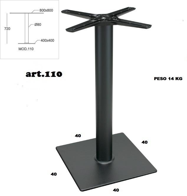 Basi In Ferro Per Tavoli.Base In Ferro Ghisa Piantana Quadrata 40x40 Senza Piedini Regolabili
