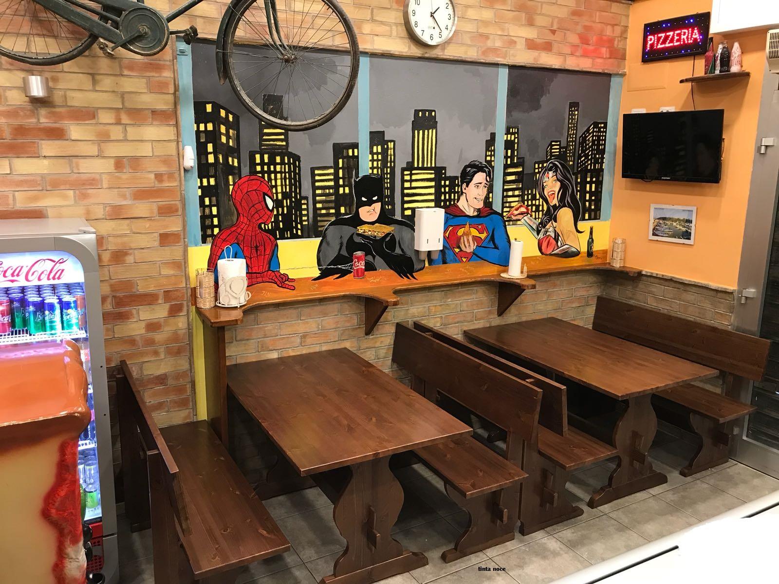 Tavoli E Panche Pub.Set Panca E Tavolo Da 130 Cm Tinta Noce